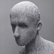 Self-portrait and human sculptures by Levi van Veluw