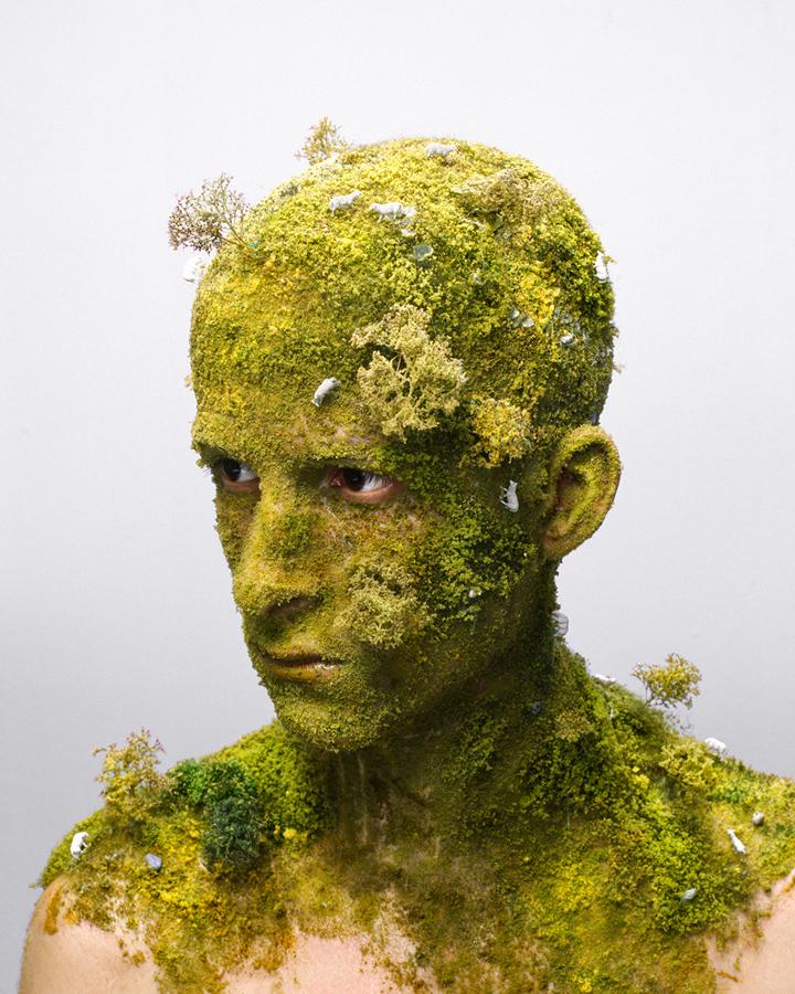 Self-portrait And Human Sculptures By Levi Van Veluw