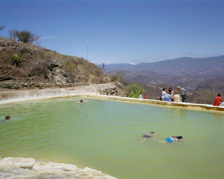 Moving Forward, Standing Still - Holding Their Breaths, Hierve el Agua, Mexico. 2010© Rona Chang