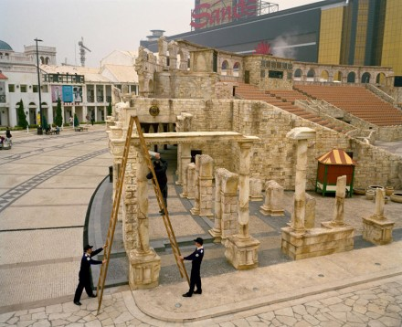Moving Forward, Standing Still - Fixing the Colosseum, Macau, China. 2008© Rona Chang