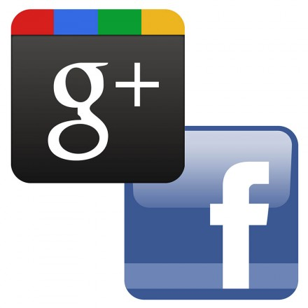 Google+ and Facebook icons