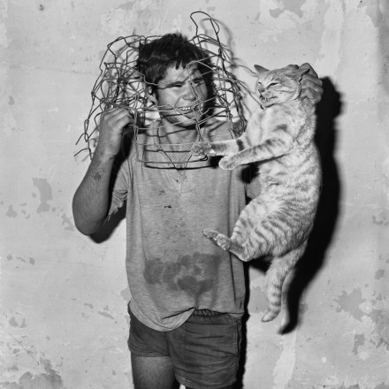 Photo by Roger Ballen: Cat catcher