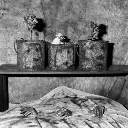 Photo by Roger Ballen: Three hands