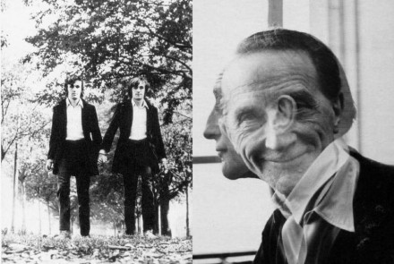 Photo by Alighero Boetti and Marcel Duchamp